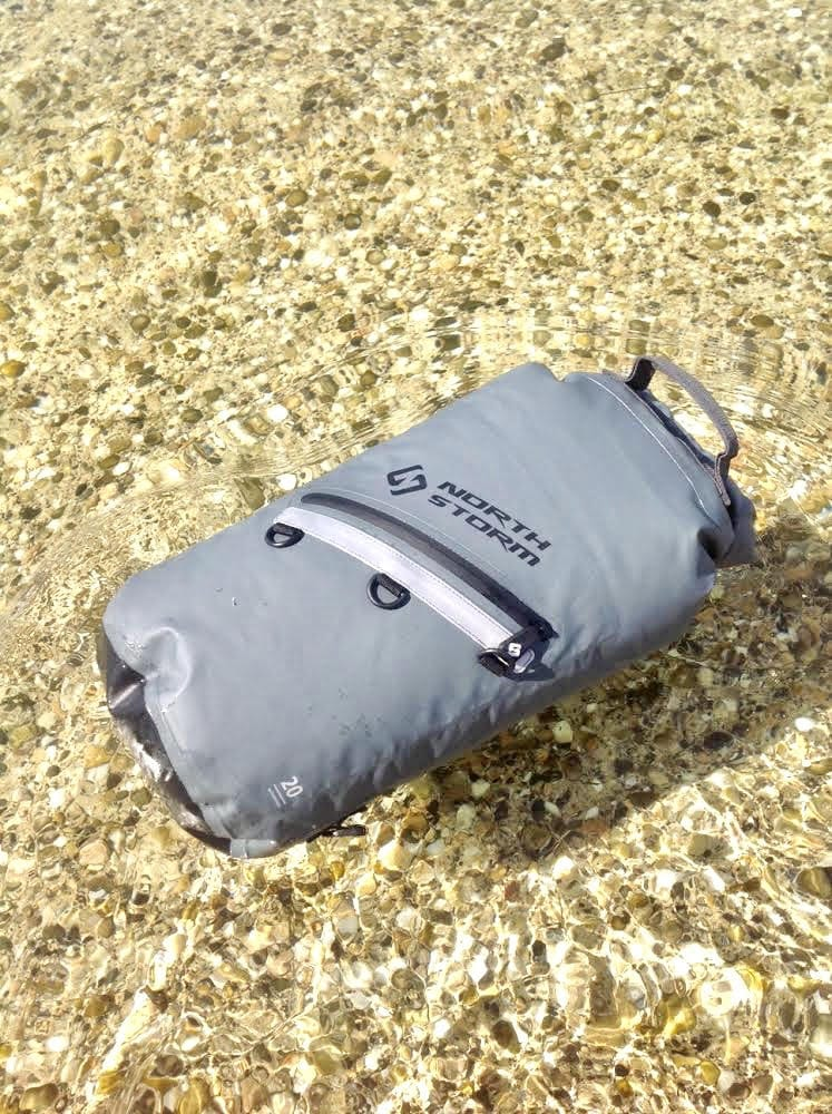 Our 20 Litre North Storm Dry Bag Floating